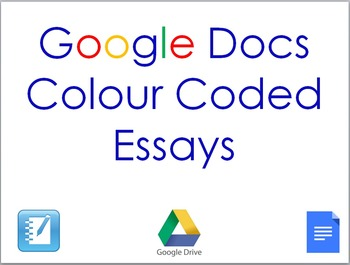 Google Docs Color Coded Essays