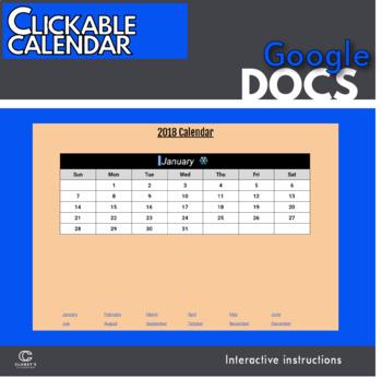 Google Docs - Creating a clickable, dynamic calendar