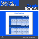 Google Docs - Creating tables intro activity (Distance Learning)