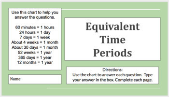 Google Docs Download Equivalent Time Periods- 3rd Grade - VA SOL