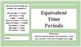 Google Docs Download Equivalent Time Periods- 3rd Grade - VA SOL