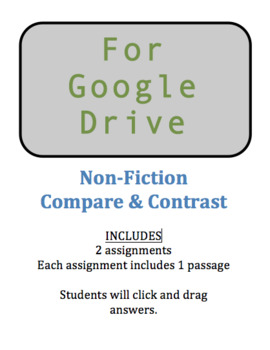 Google Docs Download  - Non-Fiction Compare and Contrast - Click and Drag