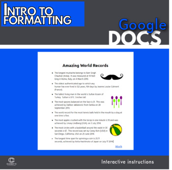 Google Docs - Intro to Formatting Activity