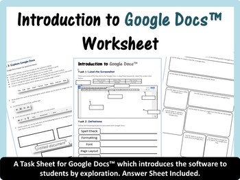 Beginners Introduction Worksheet for Google Docs™