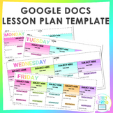 Google Docs Lesson Plan Template (EDITABLE)