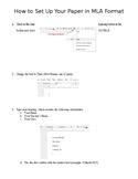 Google Docs MLA Format Step by Step Instructions