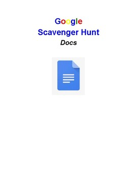 Google Docs Scavenger Hunt