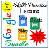 Google Docs, Sheets & Slides Lessons Bundle Distance Learning