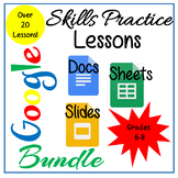 Google Docs, Sheets & Slides Lessons Bundle Distance Learning