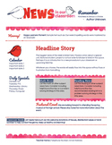 Google Docs Spring Newsletter Template
