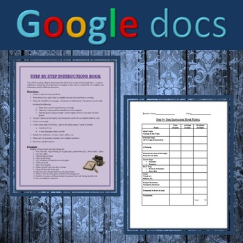 Google Docs - Step by Step Instructional Book