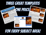 Google Docs Template Package - Three templates for every classroom project ever!