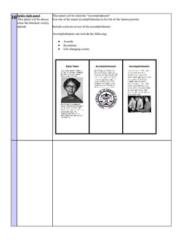 Google Apps Tri Fold Famous Person Brochure Rosa Parks Theme with Scoring Rubric