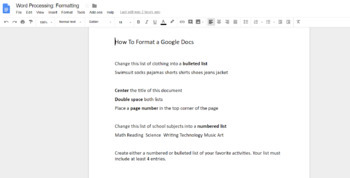 Google Docs Unit with Interactive Notebook, Practice Activities and Assessment