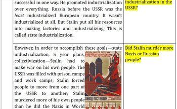 Google Docs: World War I and Rise of Dictators