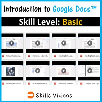 Google Docs for Beginners - Skills & Activities Bundle (4 lessons)