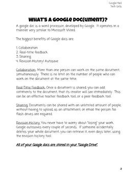 Google Docs for Rookies