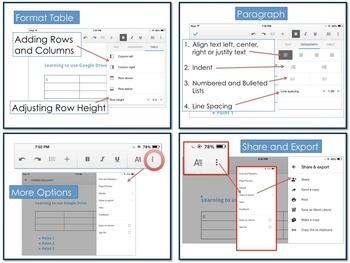 Google Docs for iPad Lesson