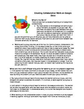 Google Docs/Slides Collaborative Project Etiquette Guide