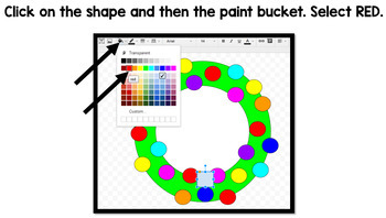 Google Drawing - Christmas Wreath - Google Drive - Google Classroom - Technology