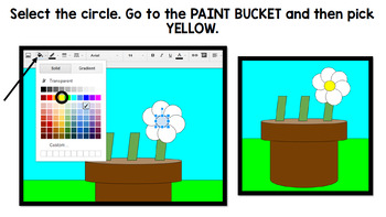 Google Drawing Flowers - Spring - Google Drive - Technology - Special Education