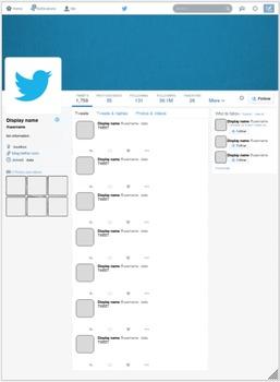 Google Drawing Social Media Templates - EDITABLE
