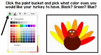 Google Drawing - Thanksgiving Turkey - Google Drive - Google Classroom