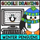 Google Drawing - Winter Penguin - Google Drive - Google Classroom - Technology
