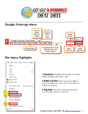 Google Drawings Cheat Sheet for Teachers and Students