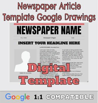 Google Drawings Newspaper Template: Complete Google Ready Resource