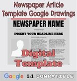 Google Drawings Newspaper Template: Complete Google Ready