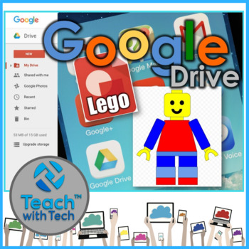 Google Drawings using Shapes to make a Toy Character