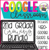 2nd Grade Math Growing Bundle for Google Classroom, 2nd Grade Digital Task Cards