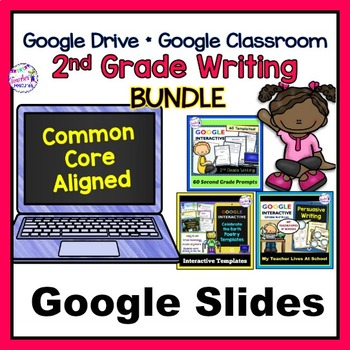 Google Classroom Activities 2nd Grade Digital Task Cards Writing Bundle