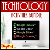 Technology  Activities and Skills Building Bundle for Google Drive™- Save $56.50