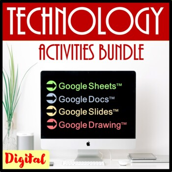 Technology  Activities and Skills Building Bundle for Google Drive™- Save $45.50