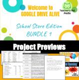 Google Drive Alive: School Store Edition BUNDLE 1 - Docs, Slides, and Sheets