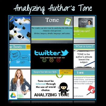 Google Drive:  Analyzing Author's Tone