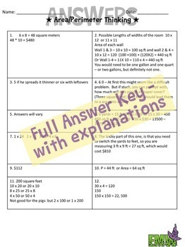 Google Drive Area and Perimeter Task Cards - Based on my Best Seller!