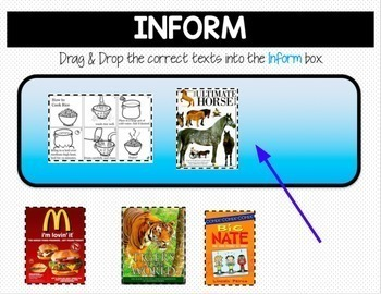 Google Classroom Activities Reading AUTHOR'S PURPOSE