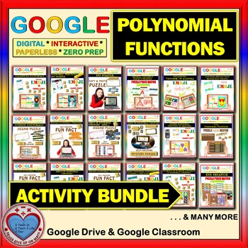Google Drive BUNDLE: POLYNOMIAL FUNCTIONS (35 Products)