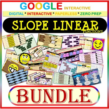 Google Drive BUNDLE: SLOPE & LINEAR FUNCTIONS