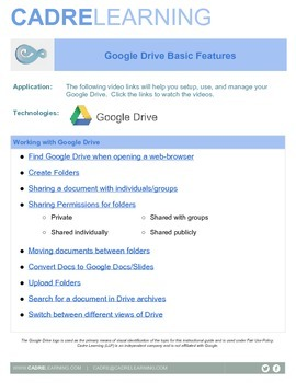 Google Drive Instructional Videos