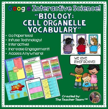 Google Drive Biology Cell Organelle Interactive Notebook f