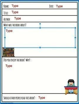 GOOGLE CLASSROOM ACTIVITIES   READING   Book Reports for Google Classroom