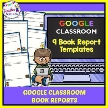 GOOGLE CLASSROOM READING | Book Reports for Google Classroom