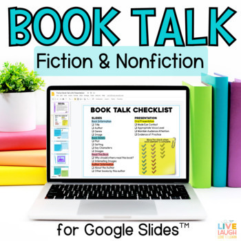 Digital Book Talk - Google Slides Project for Google and OneDrive