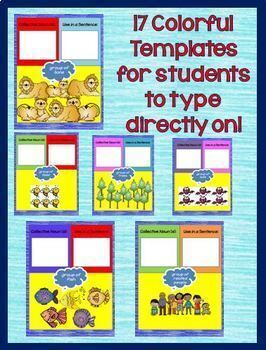 Collective Nouns Interactive Notebook Google Drive Activities L.2.1.A