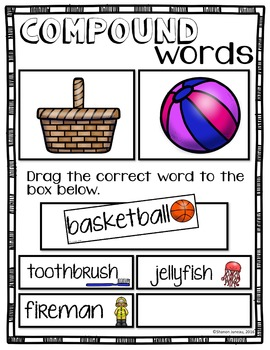 #TPTDIGITAL Google Drive Compound Words