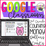2.MD.8 Counting Money for Google Classroom 2nd Grade Digital Task Cards